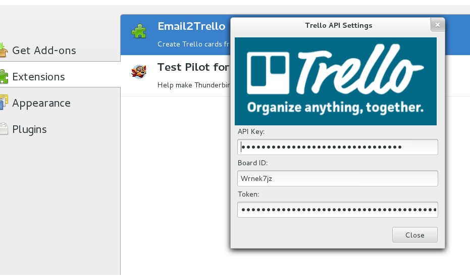 #Thunderbird and @Trello Integration